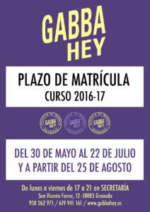 plazo matricula, escuela de música en Granada